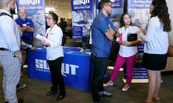 Sukut Attends a Career Fair at California State University, Long Beach