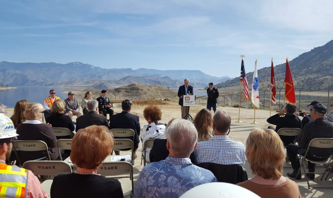 The U.S. Army Corps of Engineers Hosts a Groundbreaking Ceremony for the Phase 2 of Lake Isabella Dam Safety Modification Project