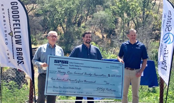 The SPSG Partners Help Rebuild the Honey Run Bridge