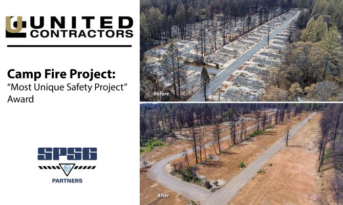 "Camp Fire Project Receives a ""Most Unique Safety Project"" Award Given by the United Contractors Magazine"
