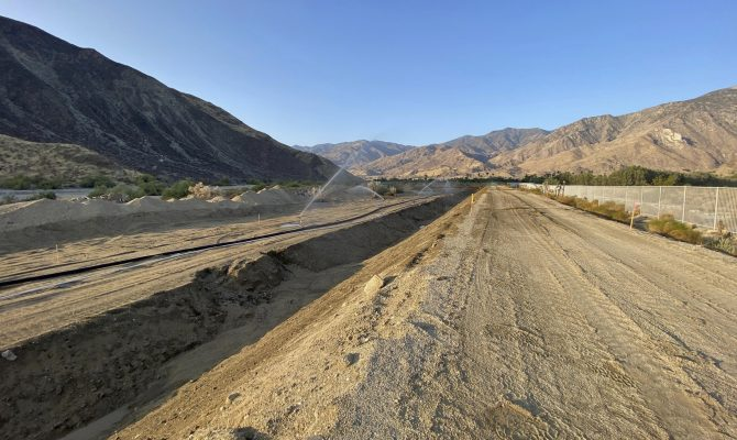 Palm Canyon Wash, Stage 93 Emergency Levee Restoration Project