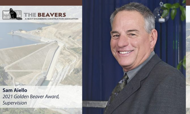 Sam Aiello of Sukut Construction Receives a 2021 Golden Beaver Award, Supervision Category